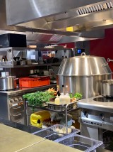 the open kitchen at Orania.Berlin