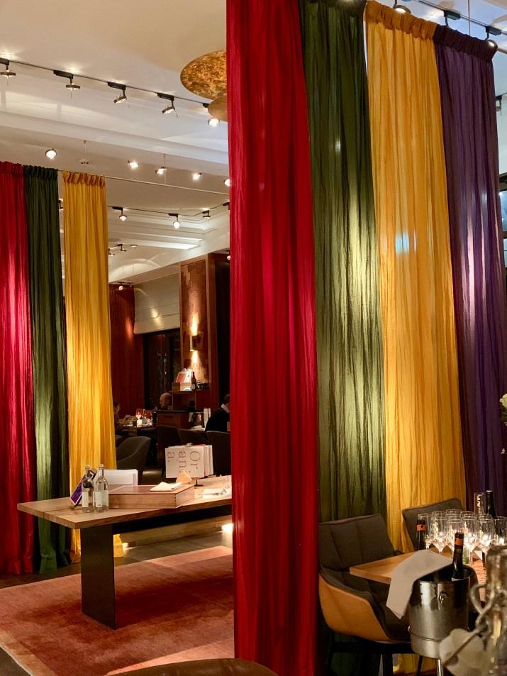 the dining room & lobby of the Orania.Berlin