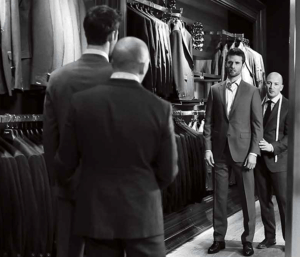 the perfectly fitted suit at Harry Rose