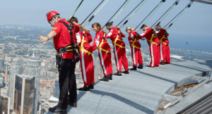 the edge walk at the CN Tower