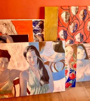 inside Hebe Hussein's studio