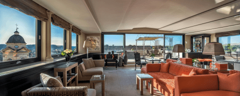 the penthouse at The Hassler
