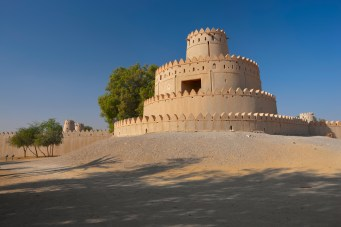 the round tower of al jahili fort, image courtesy of the Dept of Culture & Tourism, Abu Dhabi