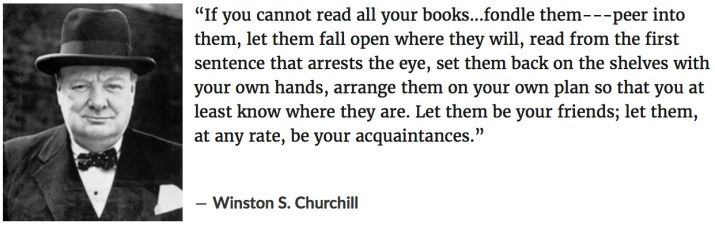 churchill on books