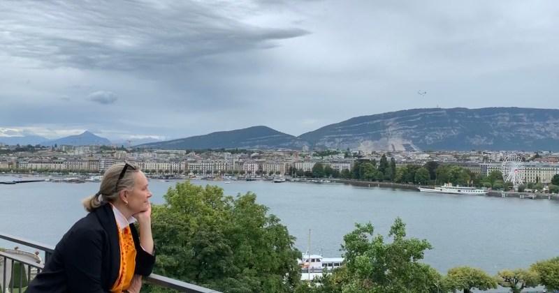me admiring Geneva