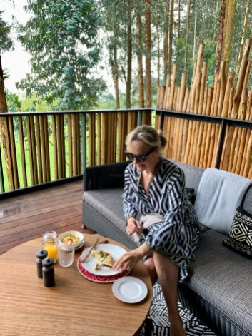 breakfast at Gorilla's Nest, Rwanda