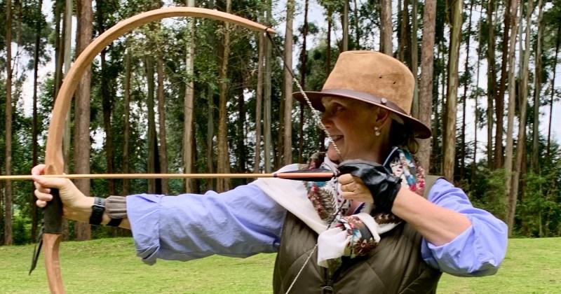 me doing archery at Gorilla's Nest, Rwanda