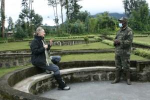 getting briefed before my trek