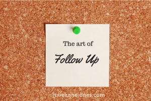 The art of follow up