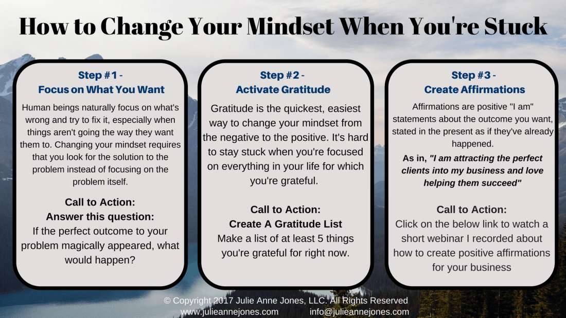 ways to change your mindset