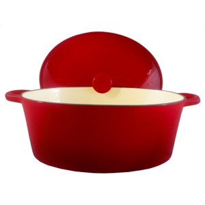Cherry Oval Dutch Oven 7-Quart. FC-B32DR2TBE