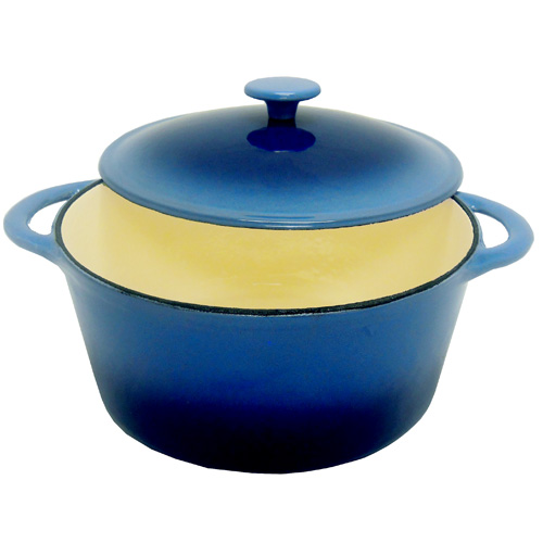 Blue Round Dutch Oven 5 1/2 Quart. A25O-NB2T-IK