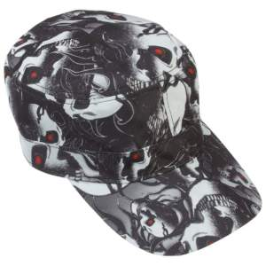 Casual Outfitters Red Eye Skull Design Cap GFCAP3RS