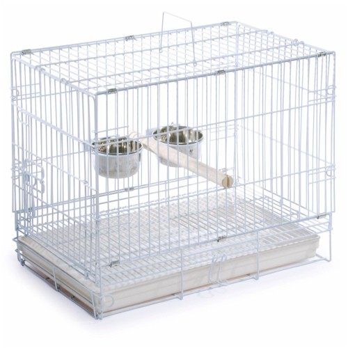 Prevue Hendryx White Travel Bird Cage PP-1305