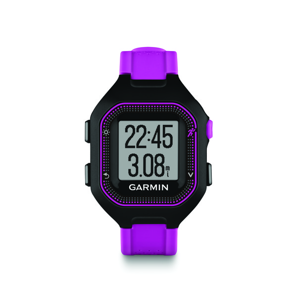 Garmin 010-N1353-20 Refurbished Forerunner® 25 GPS Running Watch (Small; Black/Purple) GRMN135320