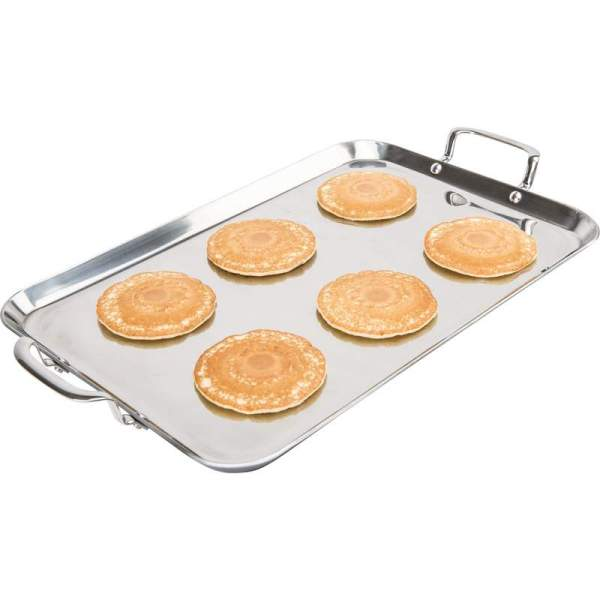 Precise Heat by Maxam T304 5-Ply Stainless Steel Double Griddle KTGRIDDT