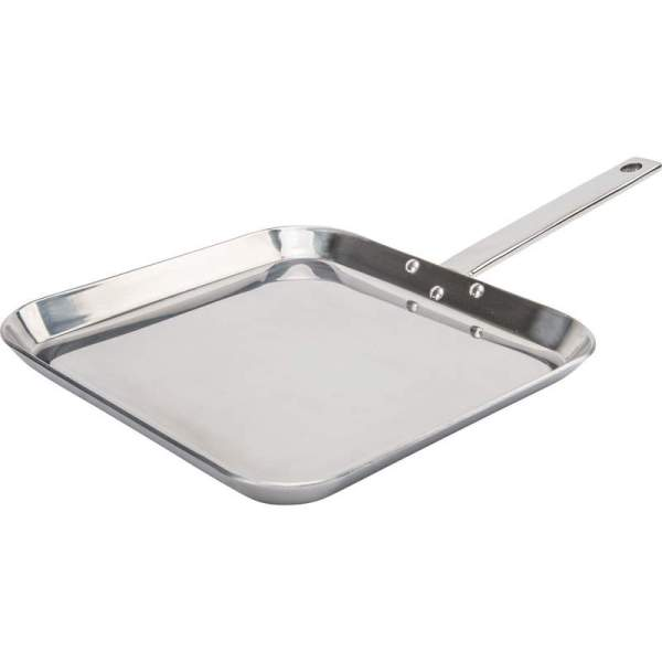 "Chef's Secret by Maxam 11"" T304 High-Quality Stainless Steel Square Griddle KTGRIDTP"