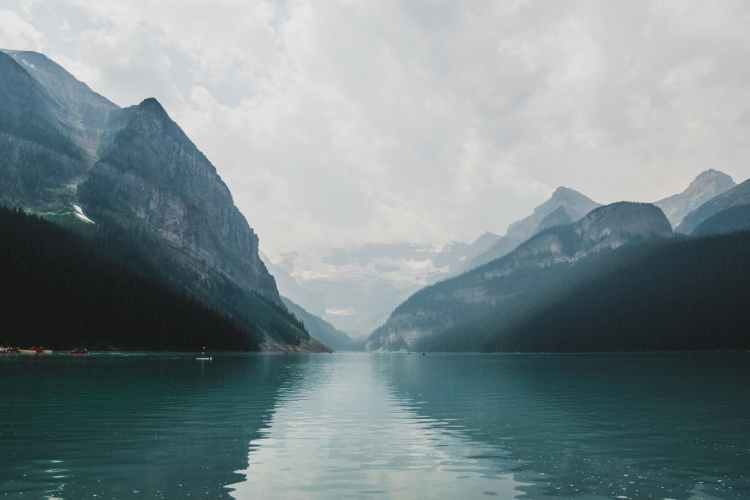 What is a personality disorder? Image of misty lake and mountain scenery.