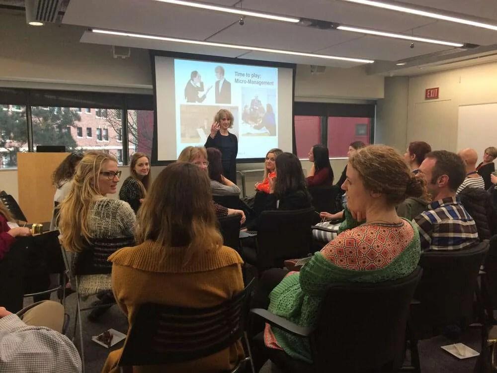 Julie Teaching The Leadership Development Training Program