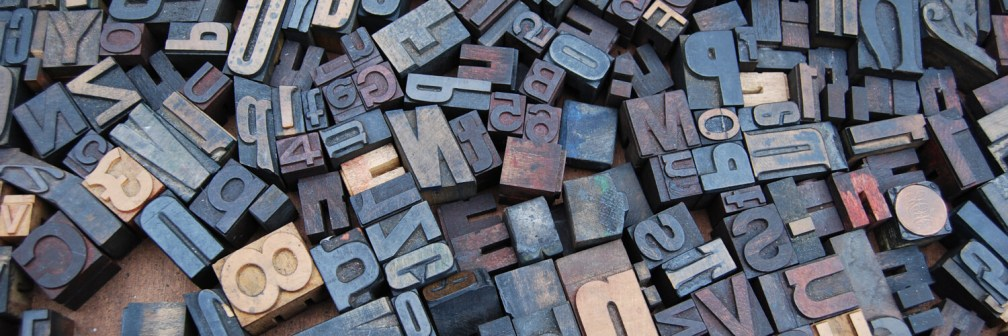 printing press typeset letters