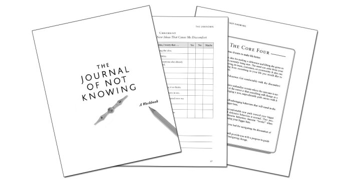 Journal of Not Knowing pages