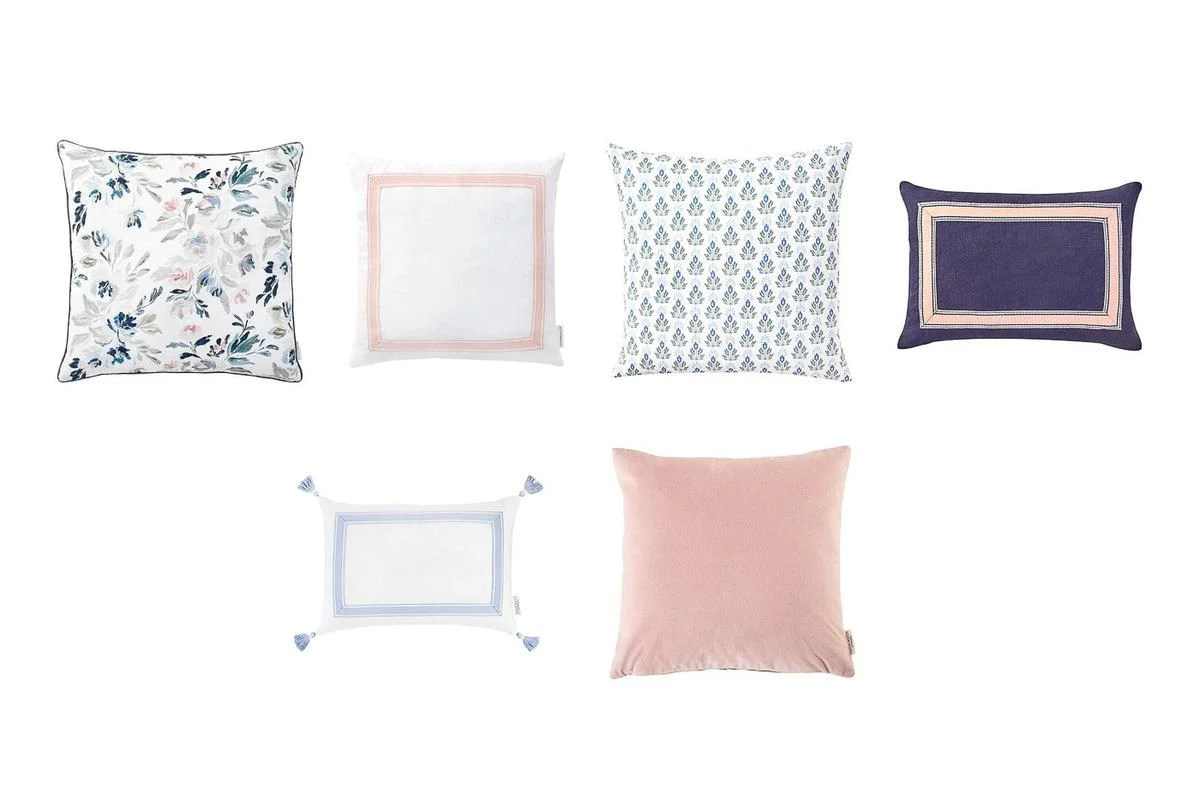 tips for mixing throw pillow covers and