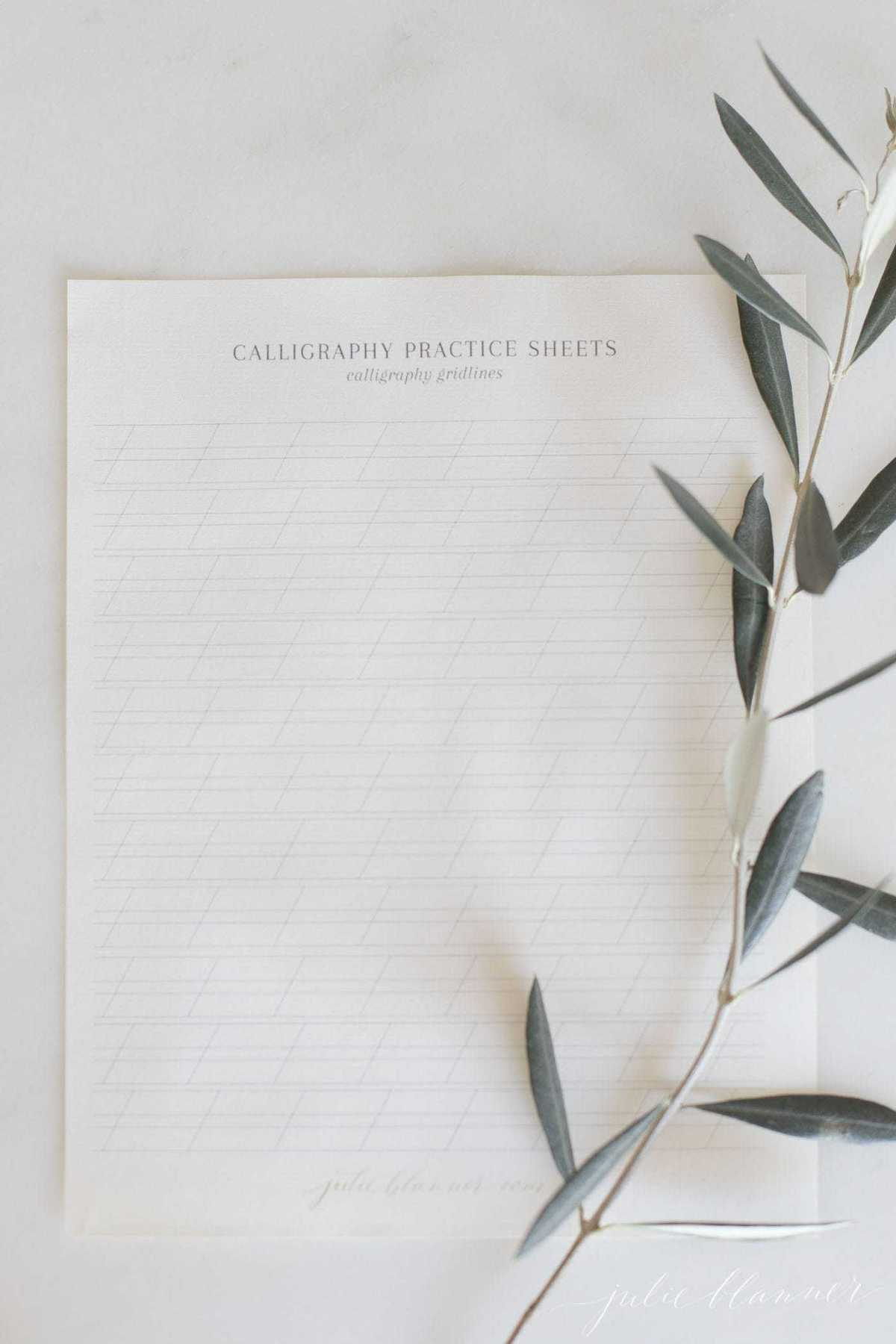 Calligraphy Paper And Free Calligraphy Practice Paper Download