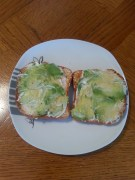 Detox treat, avocado on toast with Veganaise