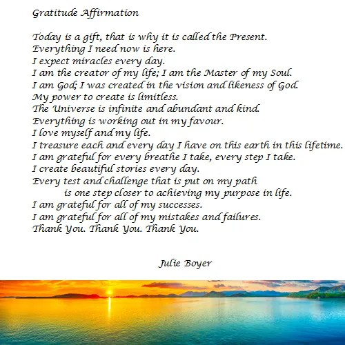 A Gratitude Affirmation for You