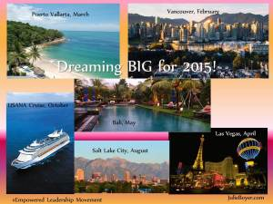 Dreaming BIG for 2015! julie boyer, daily gratitude, gratitude project