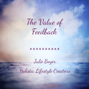 value of feedback, julie boyer. the grateful entrepreneur