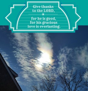 Give thanks to the LORD,