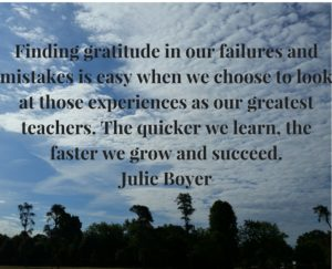 finding gratitude, julie boyer