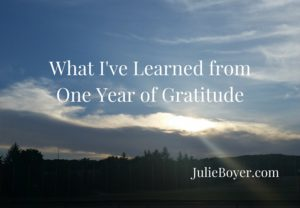 What I've Learned fromOne Year of Gratitude