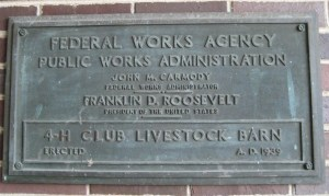 fdr plaque on the sheep barn