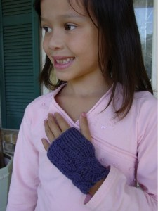 fingerless gloves knitting