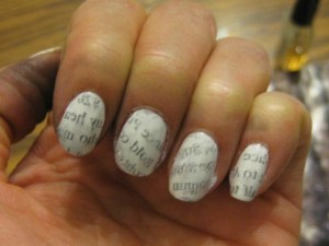 pinterest nail art newspaper