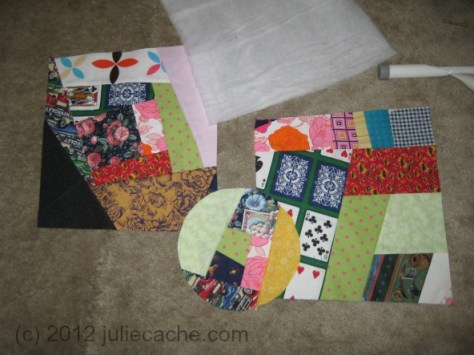 crazy quilt denim storage bins home dec sewing juliecache