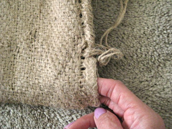 burlap coffee sack