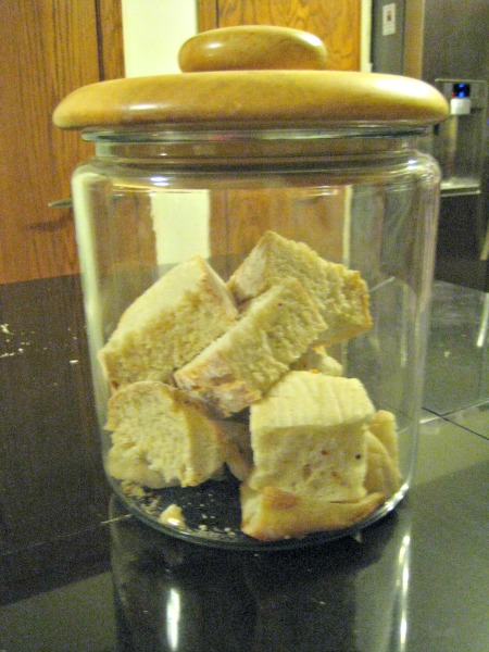 bread in jar