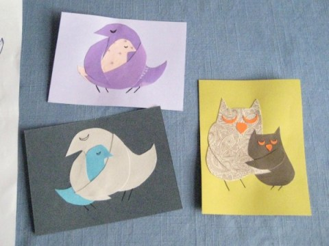 card making momma bird template