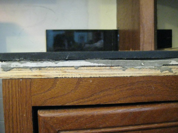 counter before wood putty