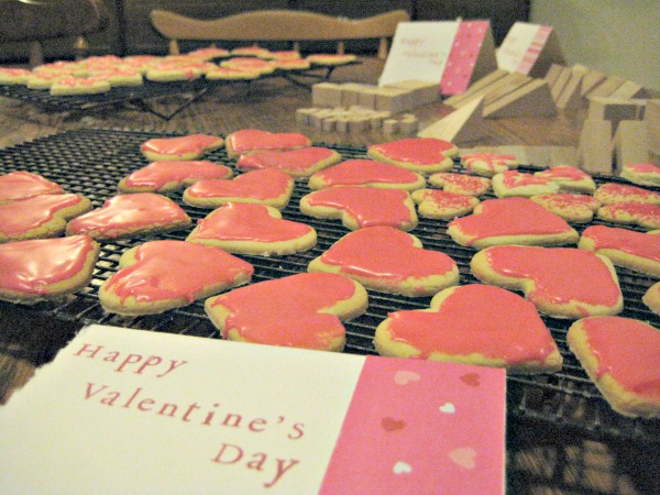 valentine day cookies small