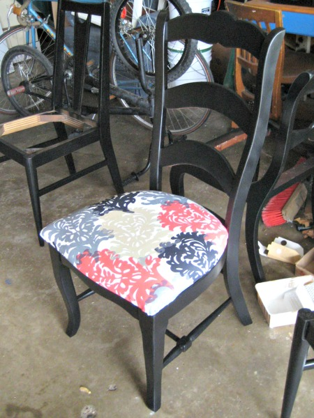 dining chair with fabric