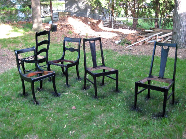 So I still haven't found my sixth chair. I'm a little sad about that, because I'm all about being done quickly.