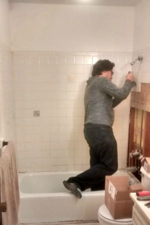 removing tile from the tub surround