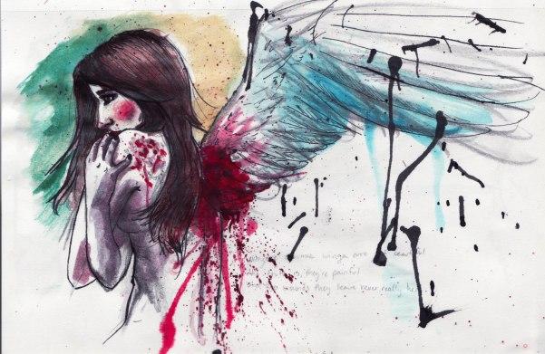 bleeding wings