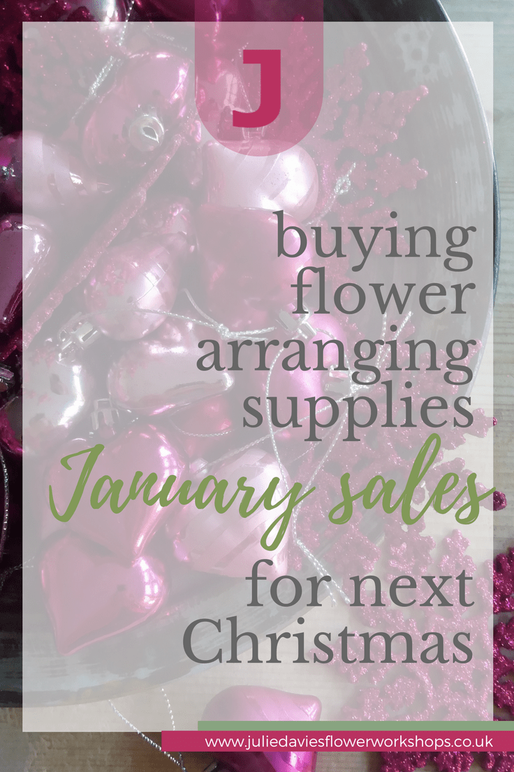flower arranging what to buy in the January sales