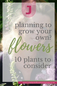 Growing your own flowers? 10 plants to consider