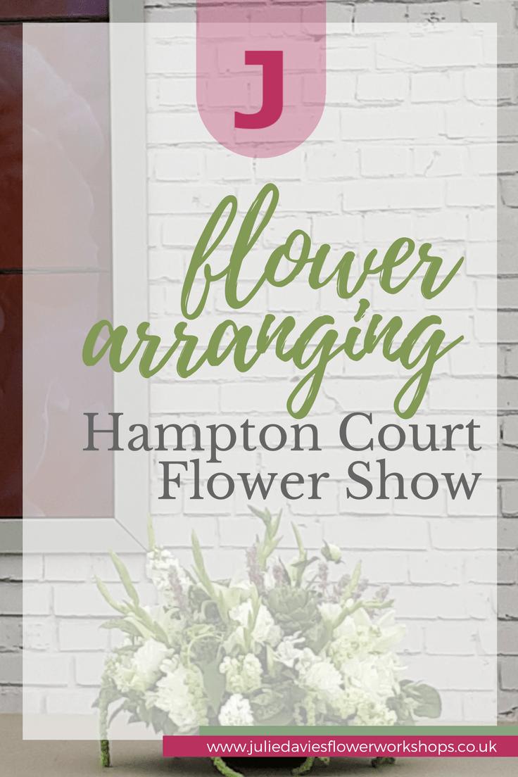 arranging flowers Hampton Court flower show